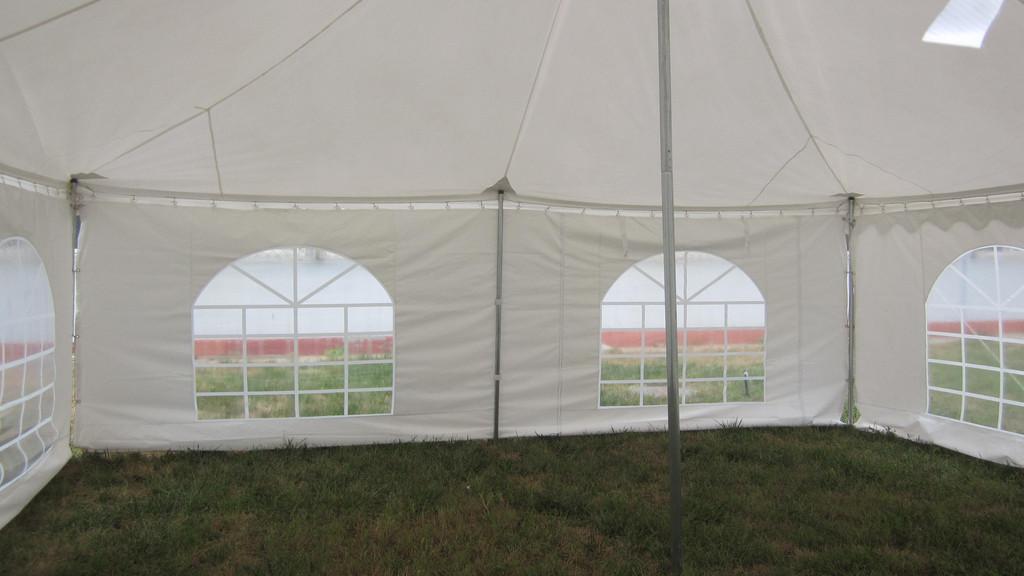 30 x 20 White PVC Pole Tent 1 & 30 x 20 White PVC Pole Tent Canopy -