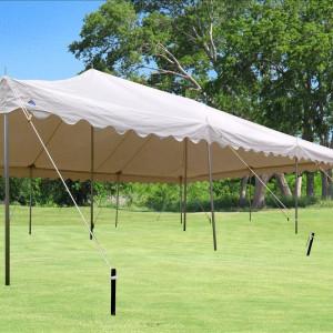 30 x 20 White PVC Pole Tent 2