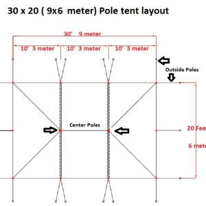30 x 20 White PVC Pole Tent 4
