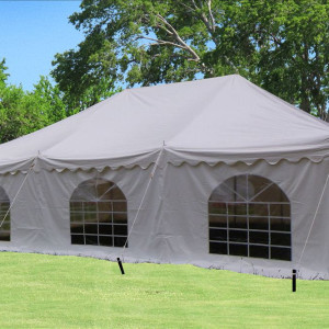 30 x 20 White PVC Pole Tent