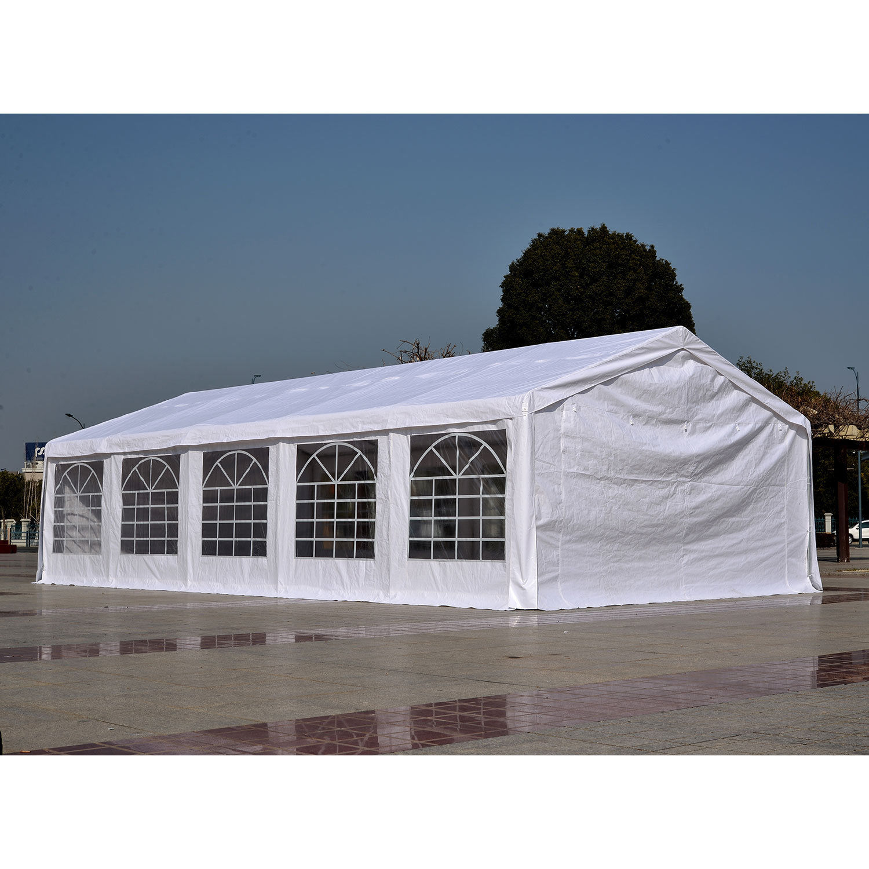 32 X 16 Heavy Duty White Party Tent Canopy Gazebo
