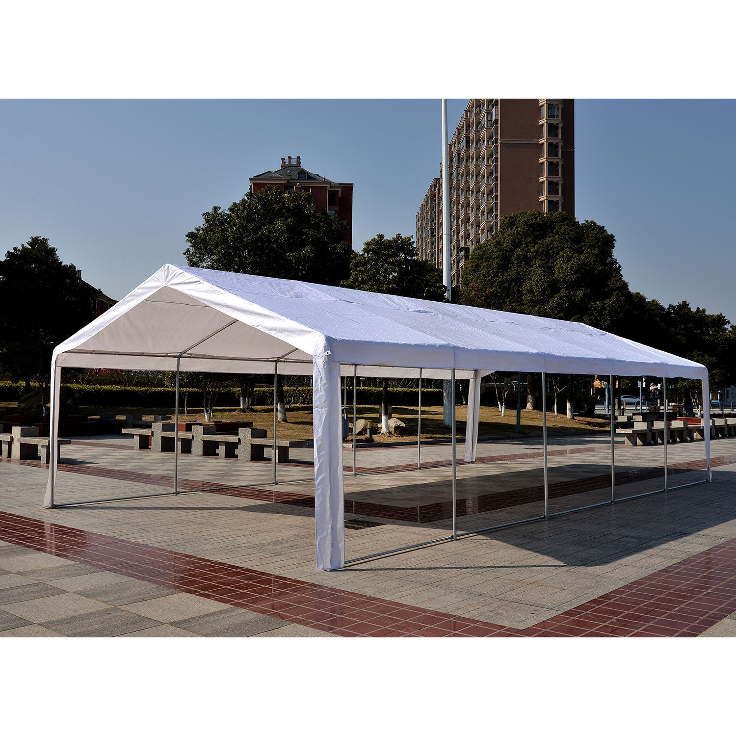 32 x 16 White Party Tent 3  sc 1 st  Wholesale Event Tents & 32 x 16 Heavy Duty White Party Tent Canopy Gazebo -