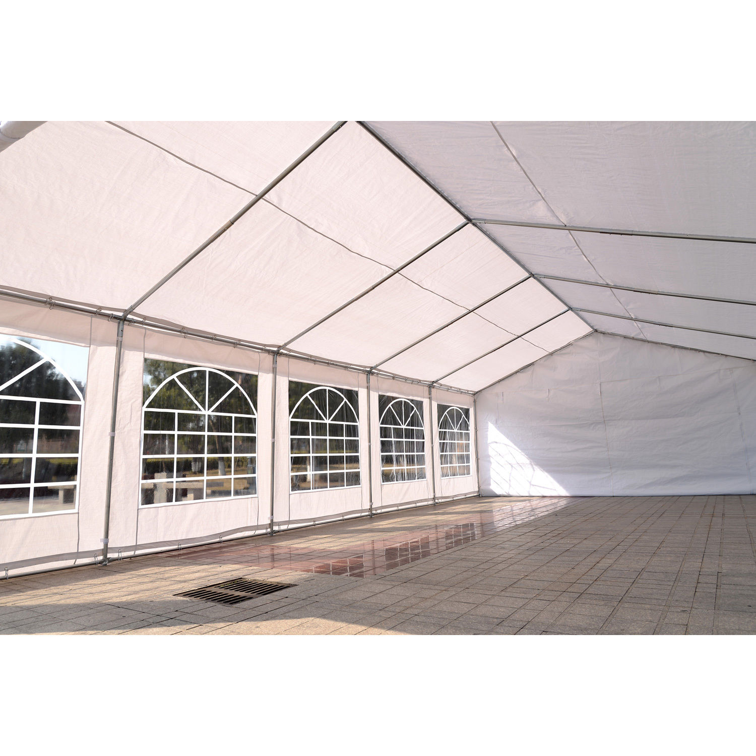 32 x 16 White Party Tent 5  sc 1 st  Wholesale Event Tents & 32 x 16 Heavy Duty White Party Tent Canopy Gazebo -