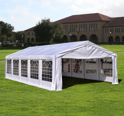 32 x 16 heavy duty white party tent canopy gazebo. Black Bedroom Furniture Sets. Home Design Ideas