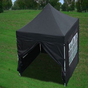 8 x 8 Black Pop Up Tent Basic 2