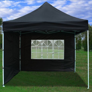 8 x 8 Black Pop Up Tent Basic 3