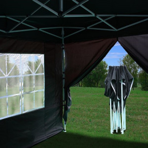 8 x 8 Black Pop Up Tent Basic 4
