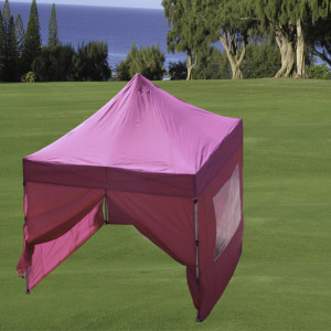 8 x 8 Pink Basic Pop Up Tent 2