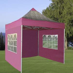 8 x 8 Pink Zebra Basic Pop Up Tent