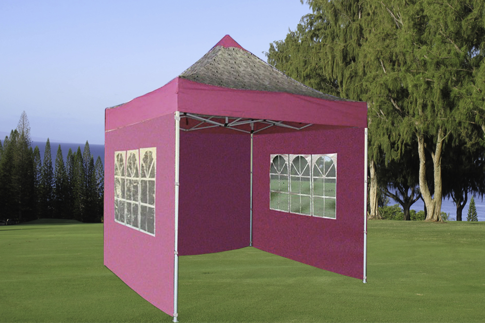 8 x 8 Pink Zebra Basic Pop Up Tent & 8 x 8 Basic Pop Up Tent - Multiple Colors -