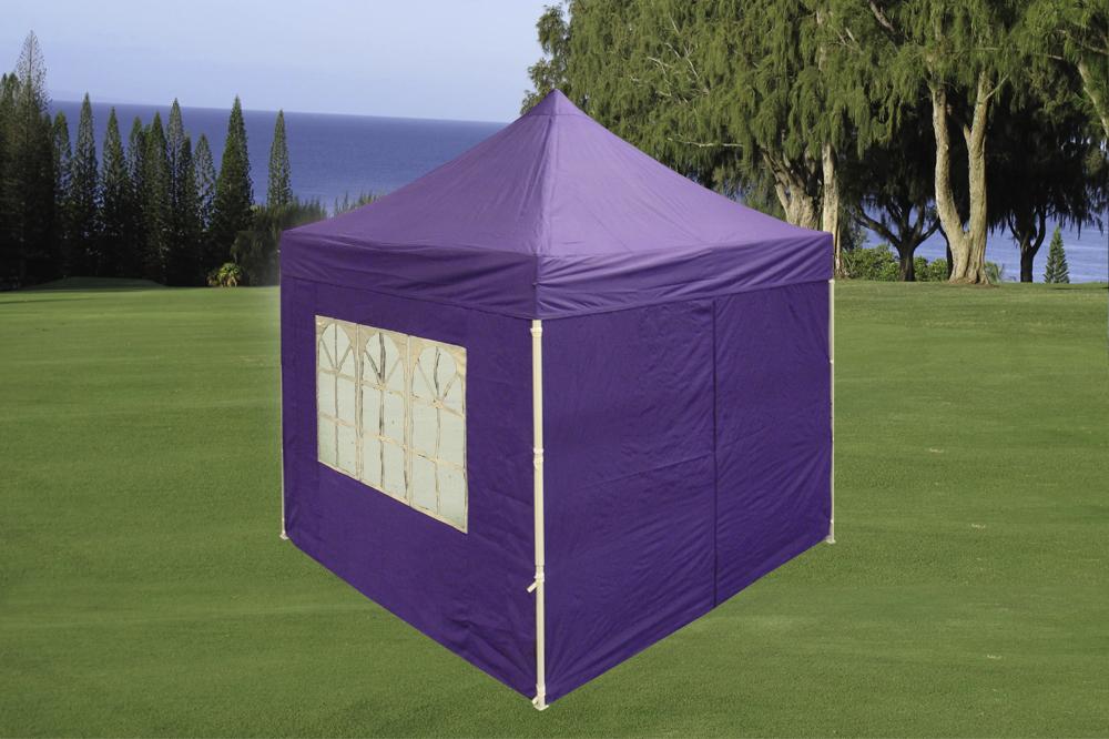 8 x 8 Purple Basic Pop Up Tent & 8 x 8 Basic Pop Up Tent - Multiple Colors -