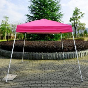 8 x 8 Slant Leg Pop Up Canopy Pink