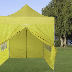 8 x 8 Yellow Basic Pop Up Tent 2