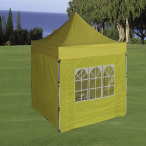 8 x 8 Yellow Pop Up Tent Basic