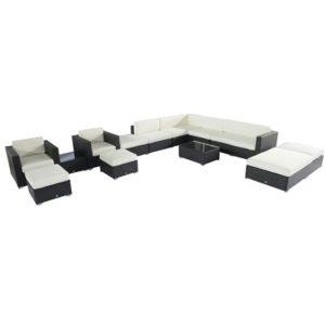 14 Piece Outdoor Wicker Sectional Sofa - 841-099 2