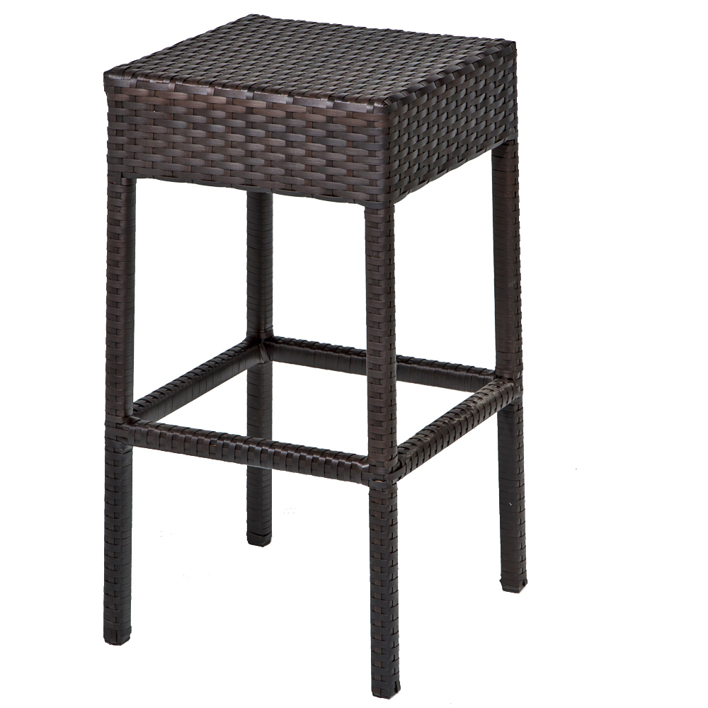 7 Piece Wicker Bar Table Set W Barstools