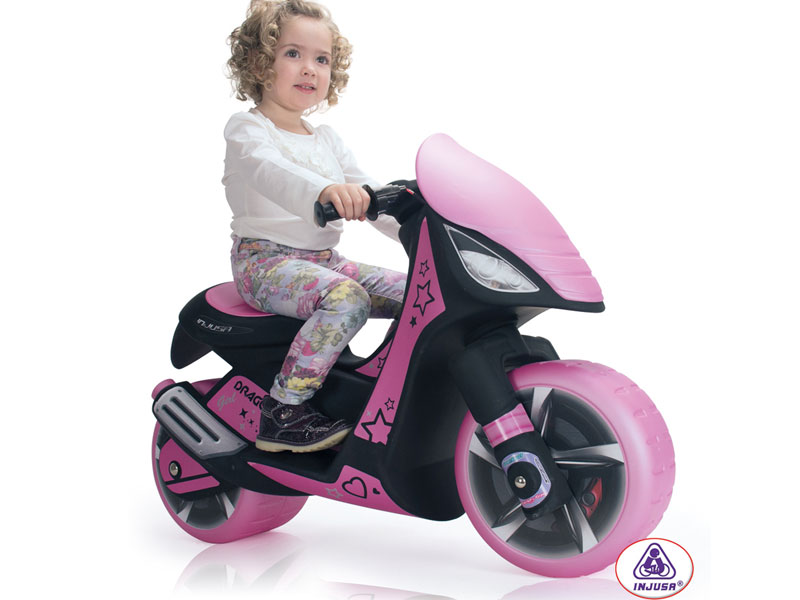 Injusa Dragon Scooter 6v Power Wheel Pink