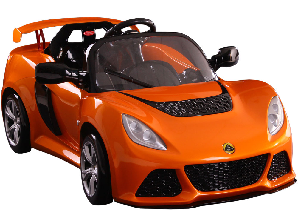 Kalee lotus exige 12v power wheel orange for Motorized cars for older kids