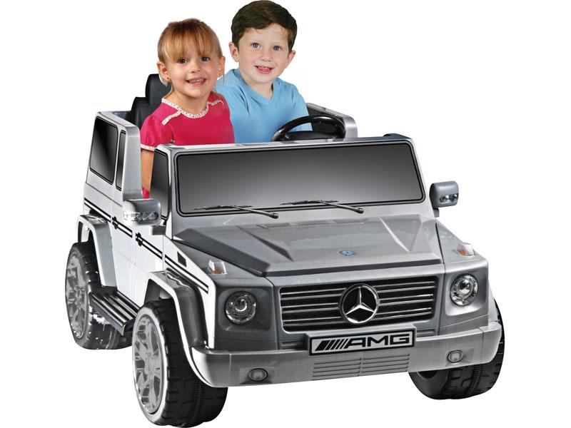 Npl mercedes benz g55 12v truck gray for Mercedes benz kids 12 volt electric car
