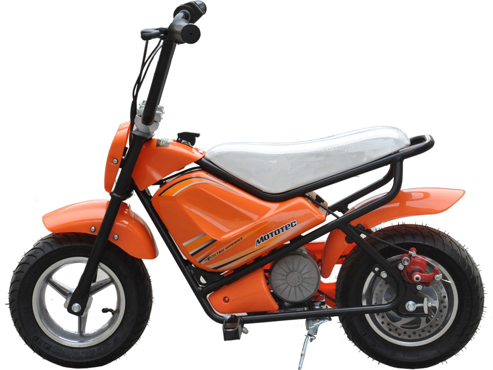 mototec electric mini bike 24v orange. Black Bedroom Furniture Sets. Home Design Ideas