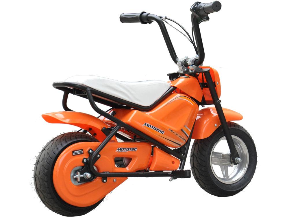 mototec electric mini bike 24v orange. Black Bedroom Furniture Sets. Home Design Ideas