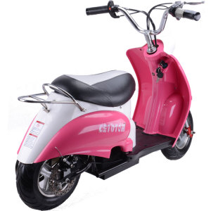 MotoTec Electric Moped 24v Pink 2