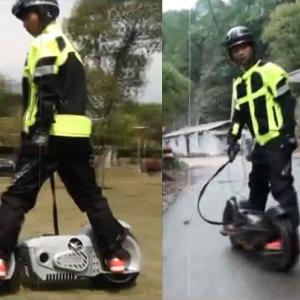 MotoTec Wheelman V2 1000w Electric Skateboard Black 4