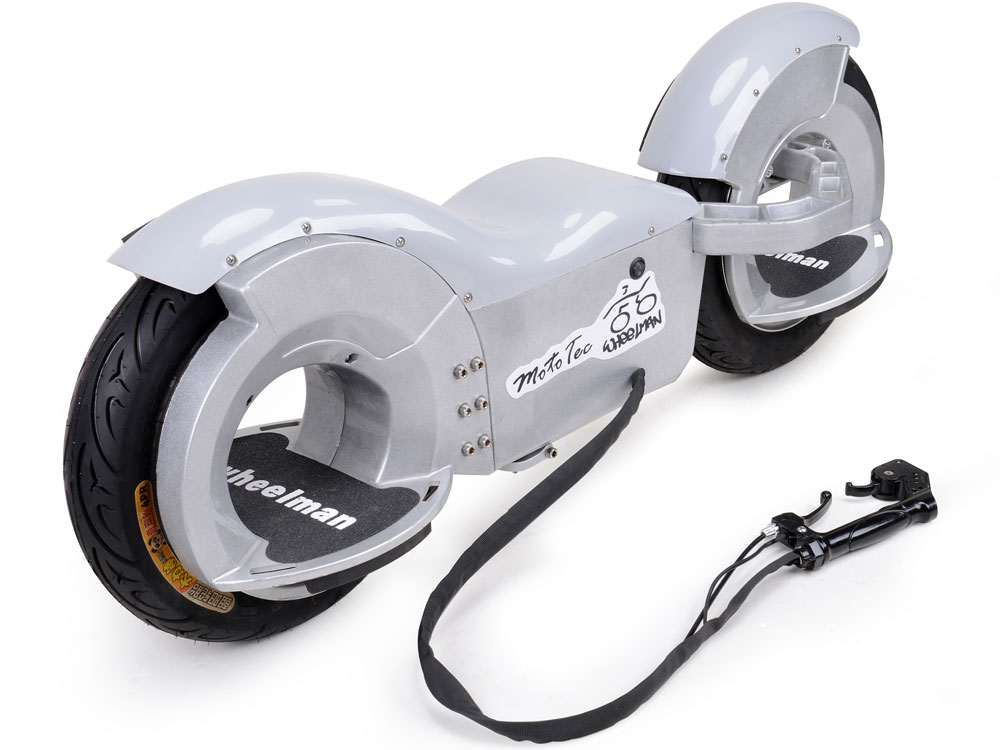 MotoTec Wheelman V2 1000w Electric Skateboard Black \u0026 Silver