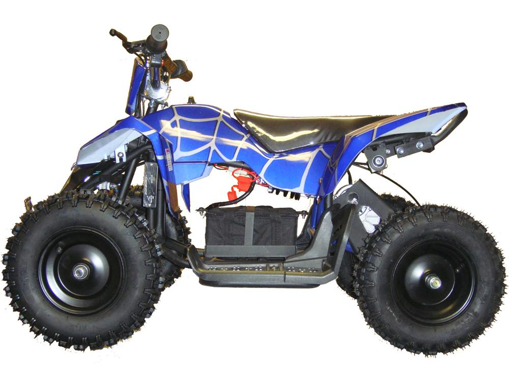 Electric Mini Quad Atv V3 24v Red Blue Amp White