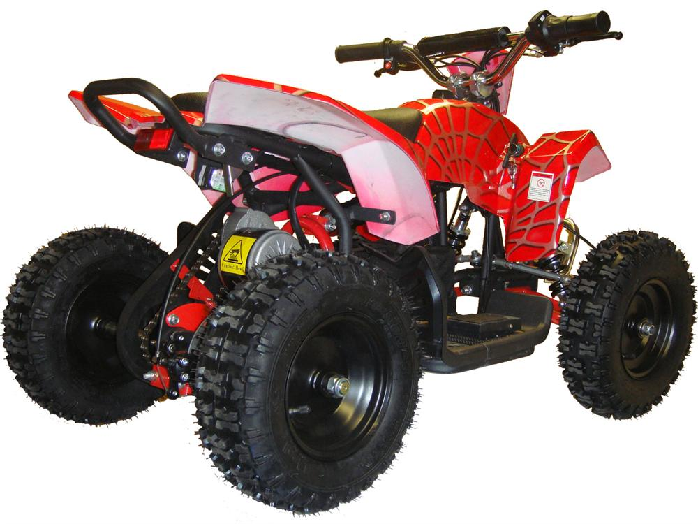 Electric Mini Quad ATV V3 24v - Red, Blue & White