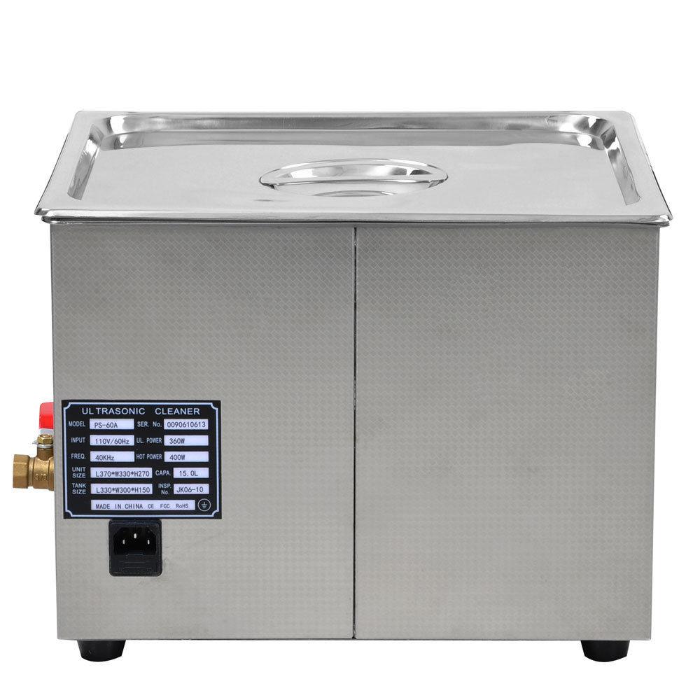 15 Liter Digital Ultrasonic Cleaning Machine Stainless