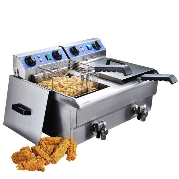 20 Liter Commercial Deep Fryer Stainless Steel W Drain