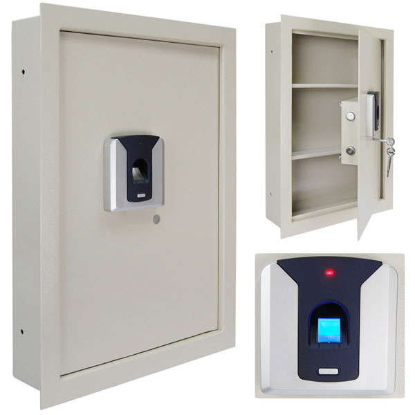 Biometric Fingerprint Wall Safe For Security 2 Colors