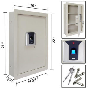 Biometric Fingerprint Wall Safe Beige 3
