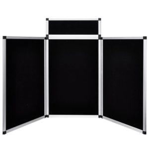 6 Ft 3 Panel Trade Show Display Board Black