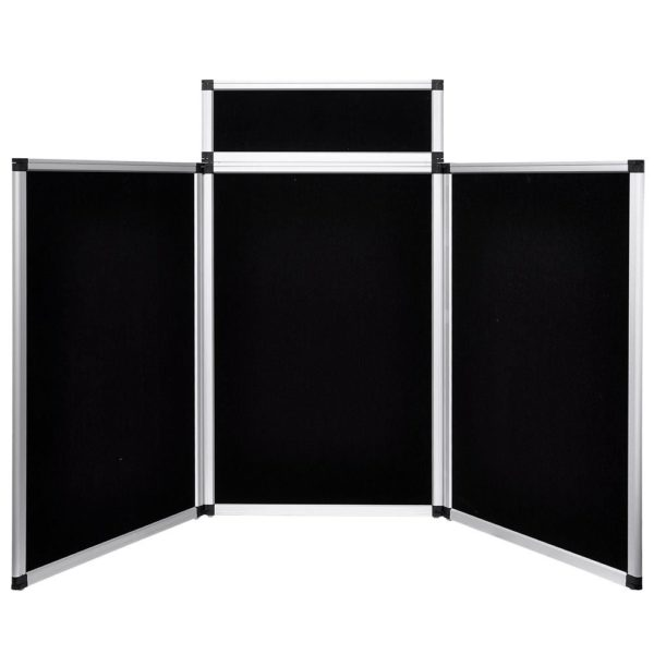 6 Ft 3 Panel Trade Show Display Board Black