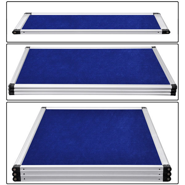 6 Ft 3 Panel Trade Show Display Board Blue 2