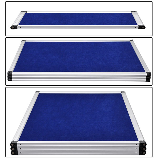 6 Ft 3 Panel Trade Show Display With Header Blue Or Black