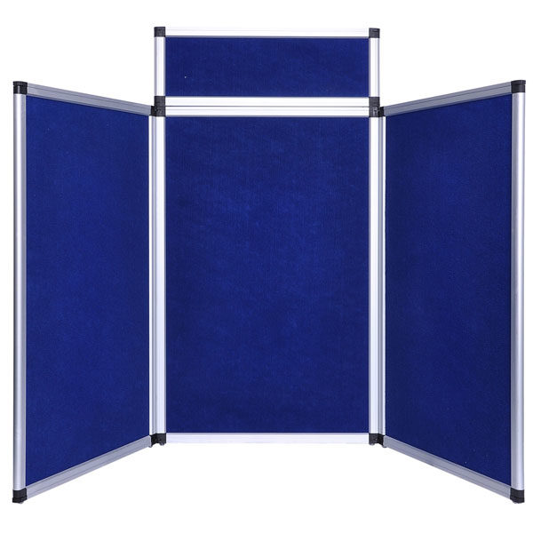 6 Ft 3 Panel Trade Show Display Board Blue