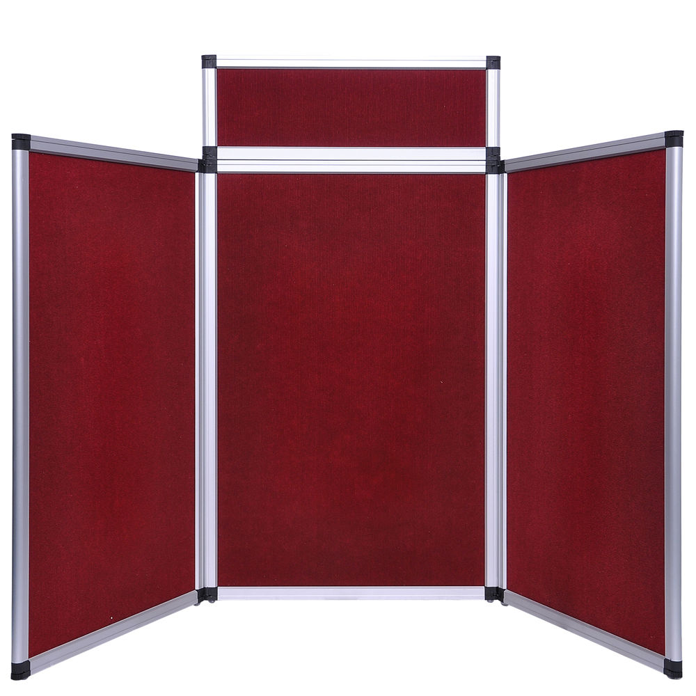 6 Ft 3 Panel Trade Show Display With Header 4 Colors