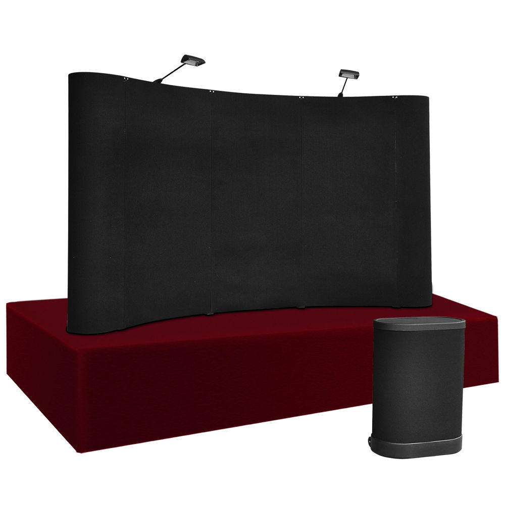8 X 5 Pop Up Trade Show Booth Display W Counter