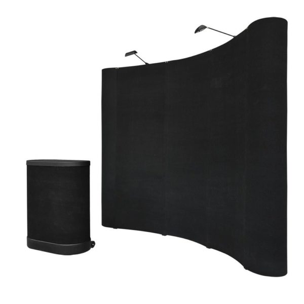 8 x 8 Pop Up Trade Show Booth Display - Black