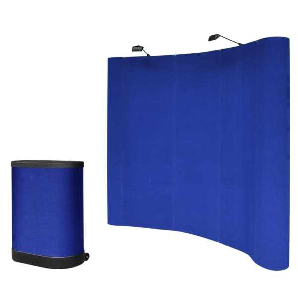 8 x 8 Pop Up Trade Show Booth Display - Blue