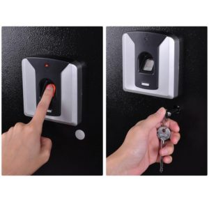 Biometric Fingerprint Wall Safe Black 2