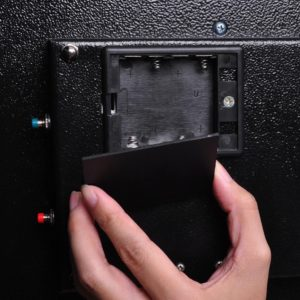 Biometric Fingerprint Wall Safe Black 3