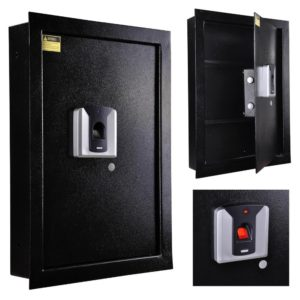Biometric Fingerprint Wall Safe Black