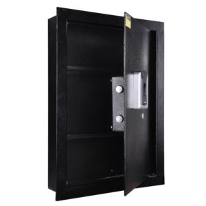 Biometric Fingerprint Wall Safe Black 4