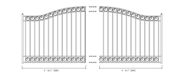 Dublin Style Single Swing Steel Driveway Gate DG14DUBSSW-AG 2