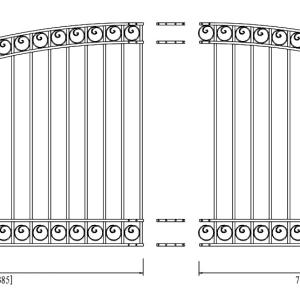 Dublin Style Single Swing Steel Driveway Gate DG16DUBSSW-AG 2