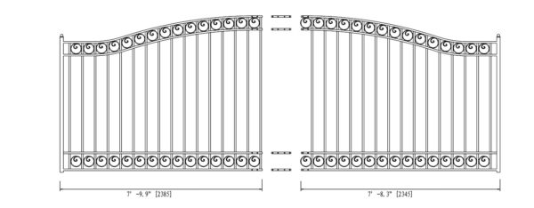 Dublin Style Single Swing Steel Driveway Gate DG16DUBSSW-AG 2